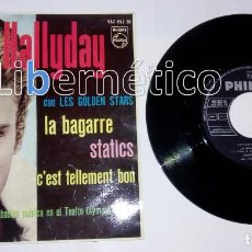 Discos de vinilo: JOHNNY HALLYDAY. LA BAGARRE. SELLO PHILIPS 1963. Lote 137279112