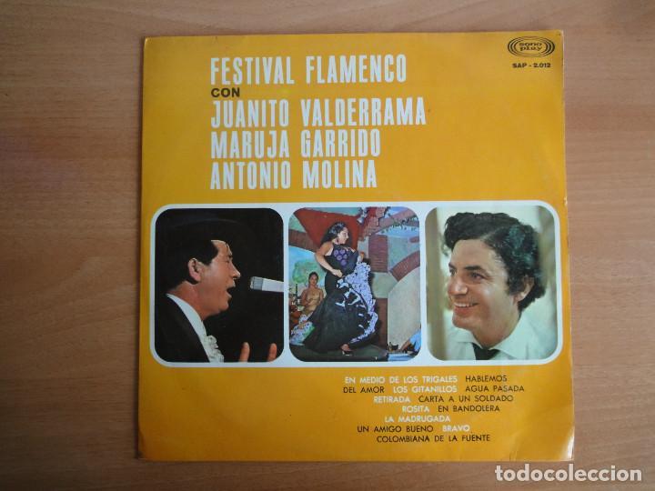 LP VINILO. FESTIVAL FLAMENCO, CON VALDERRAMA, MOLINA Y GARRIDO (SONO PLAY 1967) (Música - Discos de Vinilo - Maxi Singles - Flamenco, Canción española y Cuplé)
