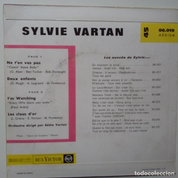 Discos de vinilo: SYLVIE VARTAN- I´M WATCHING- NE T´EN VAS PAS + 2- FRENCH EP 1963- VINILO EXC. ESTADO. - Foto 2 - 104682515