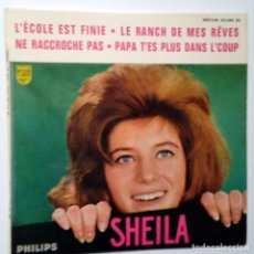 Discos de vinilo: SHEILA- L´ECOLE EST FINIE + 3- FRENCH EP 1963 + LENGÜETA- EN BUEN ESTADO.. Lote 104685087