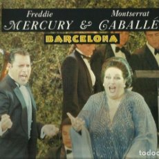 Discos de vinilo: FREDDIE MERCURY & MONTSERRAT CABALLE. MAXISINGLE. SELLO POLYDOR . EDITADO EN INGLATERRA. Lote 104688067