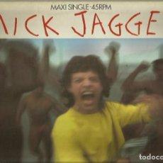 Discos de vinilo: MICK JAGGER. MAXISINGLE. SELLO CBS . EDITADO EN INGLATERRA. Lote 104688575
