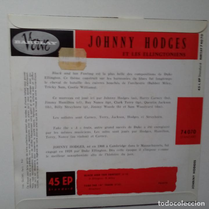 Discos de vinilo: JOHNNY HODGES ET LES ELLINCTONIENS- BLACK AND TAN FANTASY- FRENCH EP 1961 + LENGÜETA- COMO NUEVO. - Foto 2 - 104701995