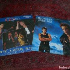 Discos de vinilo: LOTE 2 MAXIS DE GO WEST EN EXCELENTE ESTADO. Lote 104716359