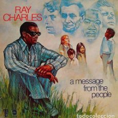 Discos de vinilo: RAY CHARLES: A MESSAGE FROM THE PEOPLE ED. ESPAÑA HISPAVOX . Lote 104718271