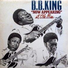 Discos de vinilo: B.B.KING NOW APPEARING , DOBLE CON PORTADA ABIERTA ED. ESPAÑA ARIOLA. Lote 104720519
