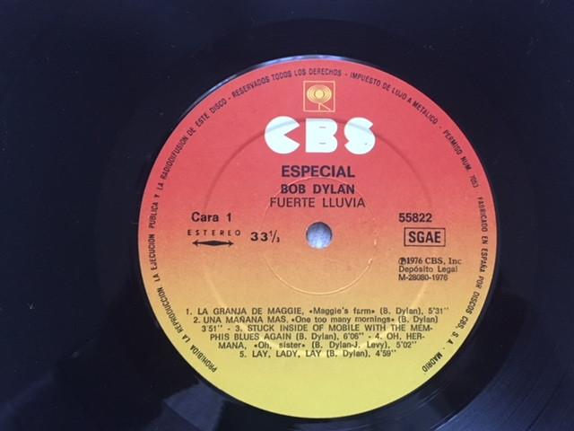 Discos de vinilo: Bob Dylan: Hard Rain - 1 LP vinilo - Live album (CBS 32308, Spain, 1984) - Foto 2 - 47378739