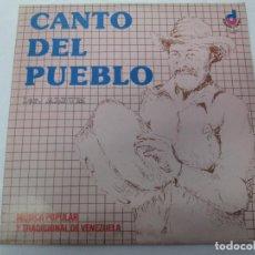 Discos de vinilo: CANTO DEL PUEBLO. MUSICA POPULAR Y TRADICIONAL DE VENEZUELA. LP VINILO. 1981. DISQUERAS UNIDAS. Lote 104744867