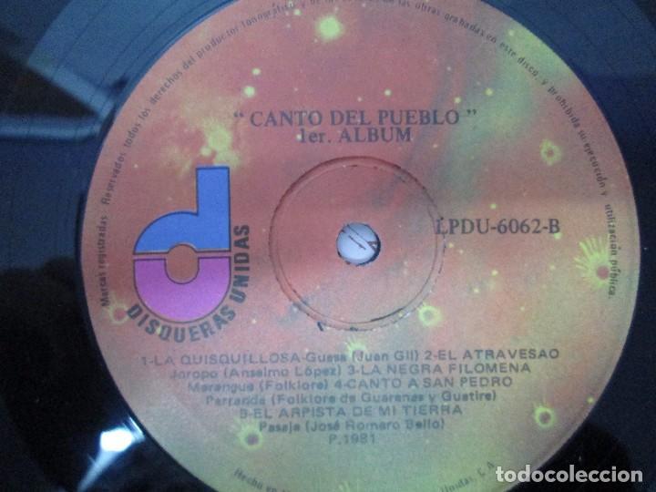 Discos de vinilo: CANTO DEL PUEBLO. MUSICA POPULAR Y TRADICIONAL DE VENEZUELA. LP VINILO. 1981. DISQUERAS UNIDAS - Foto 3 - 104744867