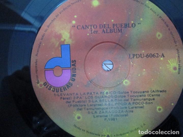Discos de vinilo: CANTO DEL PUEBLO. MUSICA POPULAR Y TRADICIONAL DE VENEZUELA. LP VINILO. 1981. DISQUERAS UNIDAS - Foto 5 - 104744867