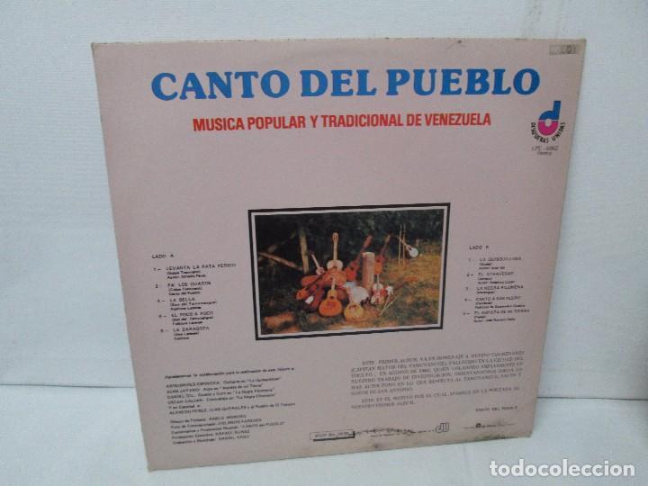Discos de vinilo: CANTO DEL PUEBLO. MUSICA POPULAR Y TRADICIONAL DE VENEZUELA. LP VINILO. 1981. DISQUERAS UNIDAS - Foto 7 - 104744867