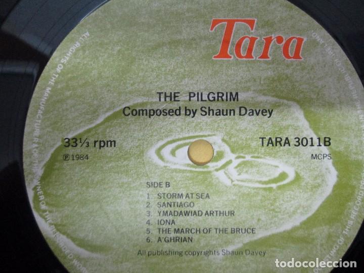 Discos de vinilo: THE PILGRIM. FROM THE LORIENT FESTIVAL SUITE COMPOSED BY SHAUN DAVEY. LP VINILO 1984. - Foto 4 - 104744951