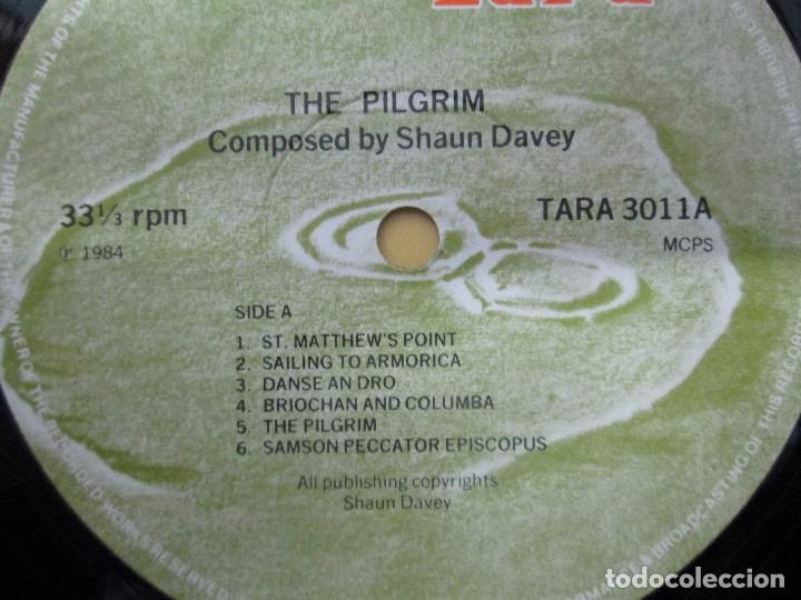 Discos de vinilo: THE PILGRIM. FROM THE LORIENT FESTIVAL SUITE COMPOSED BY SHAUN DAVEY. LP VINILO 1984. - Foto 6 - 104744951