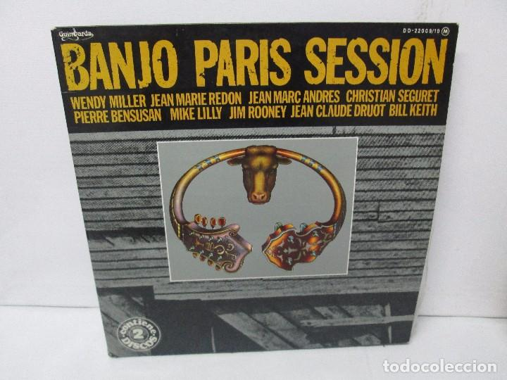 BANJO PARIS SESSION. 2 DISCOS LP VINILO. GUINBARDA 1979. WENDY MILLER. JEAN MARIE REDON... (Música - Discos - Singles Vinilo - Étnicas y Músicas del Mundo)