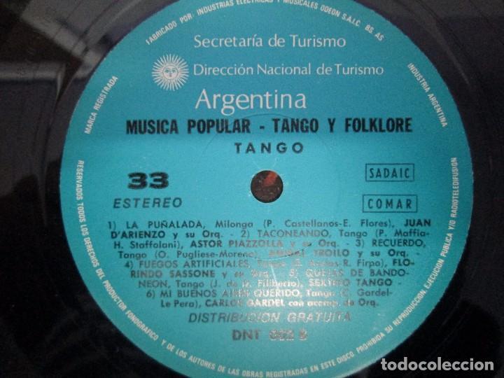 Discos de vinilo: TANGO FOLKLORE ARGENTINA. LP VINILO. ODEON INDUSTRIA ARGENTINA. VER FOTOGRAFIAS ADJUNTAS - Foto 6 - 104745235