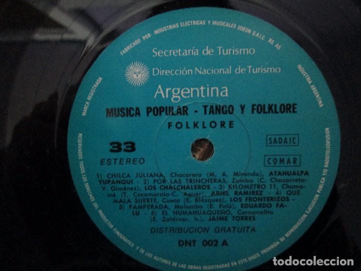 Discos de vinilo: TANGO FOLKLORE ARGENTINA. LP VINILO. ODEON INDUSTRIA ARGENTINA. VER FOTOGRAFIAS ADJUNTAS - Foto 8 - 104745235