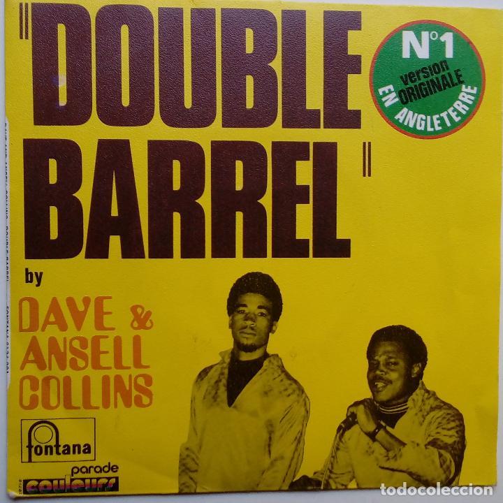 DAVE & ANSELL COLLINS- DOUBLE BARREL- FRENCH SINGLE + LENGÜETA- EXC. ESTADO. (Música - Discos - Singles Vinilo - Reggae - Ska)