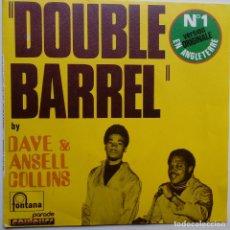 Discos de vinilo: DAVE & ANSELL COLLINS- DOUBLE BARREL- FRENCH SINGLE + LENGÜETA- EXC. ESTADO.. Lote 104769491