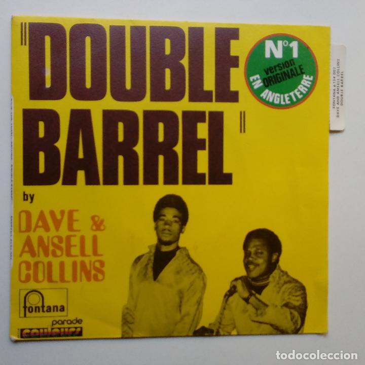 Discos de vinilo: DAVE & ANSELL COLLINS- DOUBLE BARREL- FRENCH SINGLE + LENGÜETA- EXC. ESTADO. - Foto 2 - 104769491