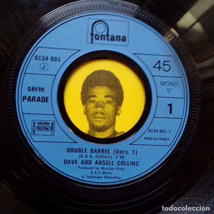Discos de vinilo: DAVE & ANSELL COLLINS- DOUBLE BARREL- FRENCH SINGLE + LENGÜETA- EXC. ESTADO. - Foto 4 - 104769491