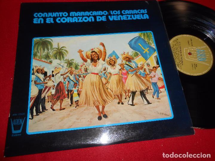 CONJUNTO MARACAIBO/LOS CARACAS EN EL CORAZON DE VENEZUELA LP 1974 ARION SPAIN (Música - Discos - LP Vinilo - Grupos y Solistas de latinoamérica)