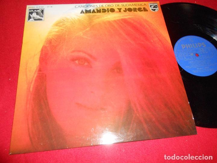 AMANDIO Y JORGE CANCIONES ORO DE SUDAMERICA LP 1975 PHILIPS SPAIN (Música - Discos - LP Vinilo - Grupos y Solistas de latinoamérica)