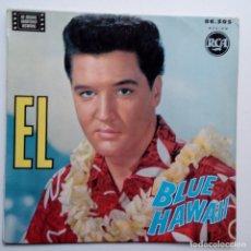 Discos de vinilo: ELVIS PRESLEY BLUE HAWAII- NO MORE (LA PALOMA) + 3- FRENCH EP 1962.. Lote 104771299