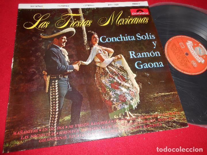 CONCHITA SOLIS Y RAMON GAONA LAS FIESTAS MEXICANAS LP 1964 POLYDOR MEXICO (Música - Discos - LP Vinilo - Grupos y Solistas de latinoamérica)
