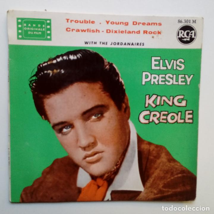 ELVIS PRESLEY - KING CREOLE + 3- FRENCH EP 1962. (Música - Discos de Vinilo - EPs - Rock & Roll)