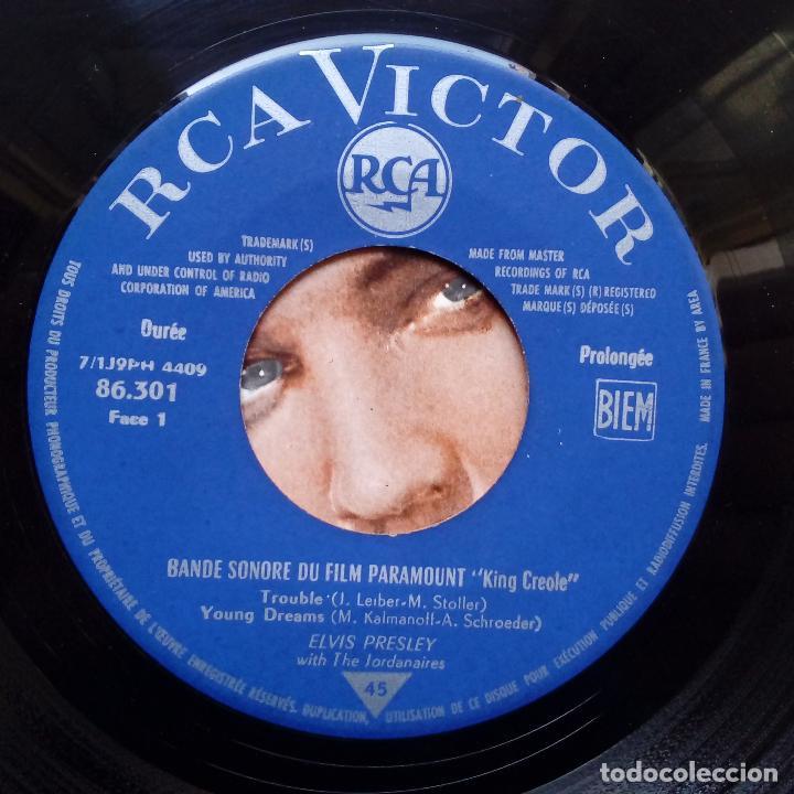 Discos de vinilo: ELVIS PRESLEY - KING CREOLE + 3- FRENCH EP 1962. - Foto 3 - 104772343