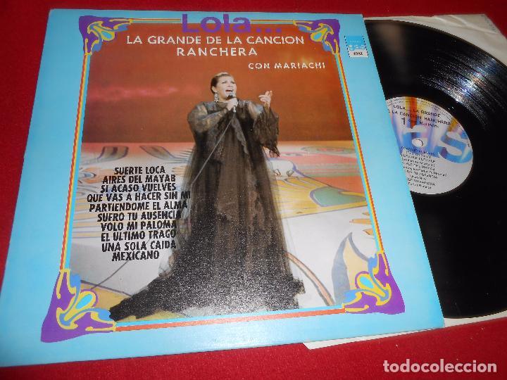 LOLA... LA GRANDE DE LA CANCION RANCHERA CON MARIACHI EL ULTIMO TRAGO LP 1976 GAS MEXICO (Música - Discos - LP Vinilo - Grupos y Solistas de latinoamérica)