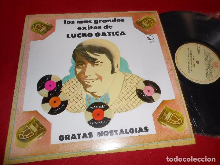 LUCHO GATICA LOS MAS GRANDES EXITOS COLECCION GRATAS NOSTALGIAS LP 1982 EMI VENEZUELA (Música - Discos - LP Vinilo - Grupos y Solistas de latinoamérica)