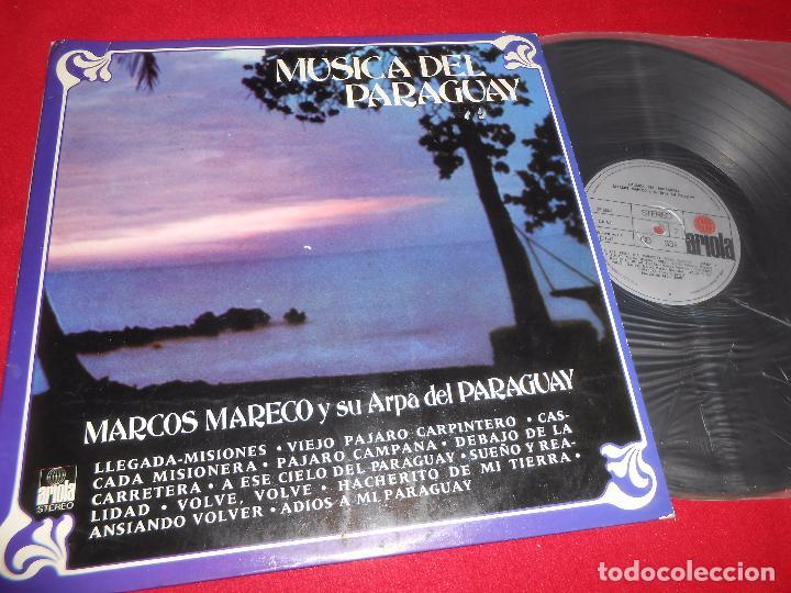 MARCOS MARECO Y SU ARPA DE PARAGUAY MUSICA DEL PARAGUAY LP 1975 ARIOLA SPAIN (Música - Discos - LP Vinilo - Grupos y Solistas de latinoamérica)