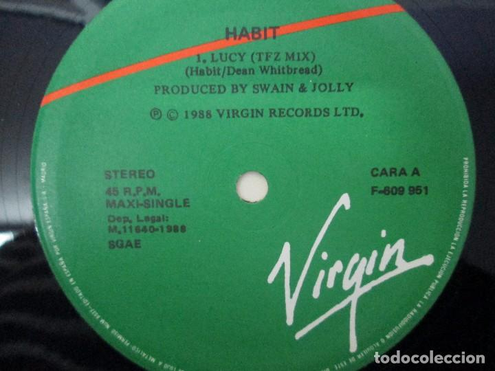 Discos de vinilo: HABIT MAXI-SINGLE VINILO. VIRGIN RECORDS 1988. VER FOTOGRAFIAS ADJUNTAS - Foto 4 - 104782563