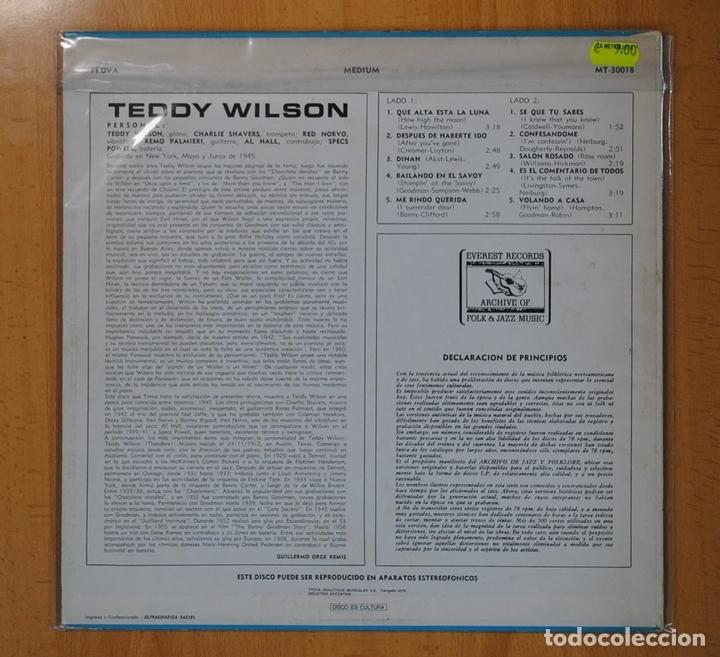 Discos de vinilo: TEDDY WILSON - TEDDY WILSON - LP - Foto 2 - 104784494