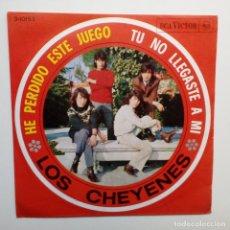 Discos de vinilo: LOS CHEYENES HE PERDIDO ESTE JUEGO- SPAIN SINGLE 1966- EXC. ESTADO.. Lote 158831372