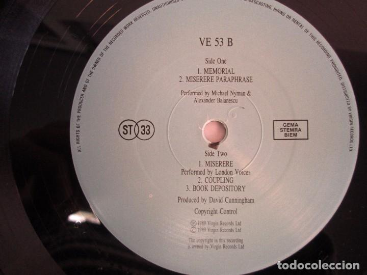 Discos de vinilo: MICHAEL NYMAN. A ZED AND TWO NOUGTS. THE COOK THE THIEF HIS WIFE HER LOVER. LP VINILO - Foto 6 - 104786443