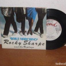 Discos de vinilo: ROCKY SHARPE & THE REPLAYS 7´´ MEGA RARE VINTAGE SPANISH TITLES 1980. Lote 104812807