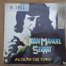 Discos de vinilo: EP - JOAN MANUEL SERRAT - ALBUM DE ORO - MEDITERRANEO +3 - ZAFIRO EP-002 - 1981. Lote 104813791