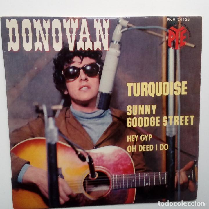 DONOVAN- TURQUOISE- FRENCH EP 1965 + LENGÜETA. (Música - Discos de Vinilo - EPs - Pop - Rock Internacional de los 50 y 60)