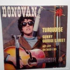 Discos de vinilo: DONOVAN- TURQUOISE- FRENCH EP 1965 + LENGÜETA.. Lote 104844847