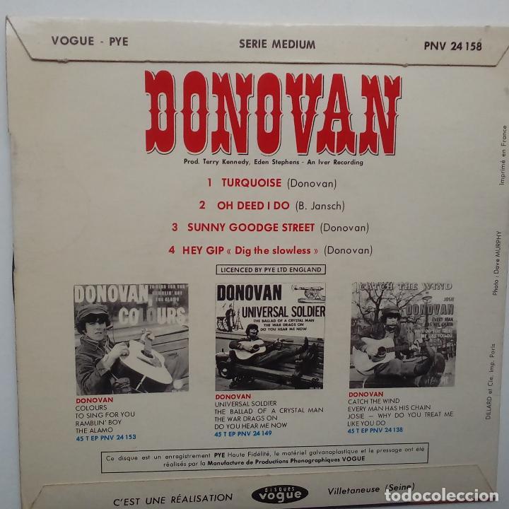 Discos de vinilo: DONOVAN- TURQUOISE- FRENCH EP 1965 + LENGÜETA. - Foto 2 - 104844847