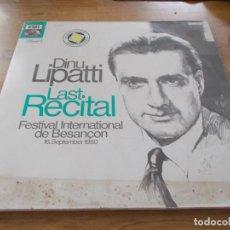 Discos de vinilo: DINU LIPATTI. LAST RECITAL. FESTIVAL INTERNATIONAL DE BESANCON. 16 SEPTEMBER 1950. Lote 104854435