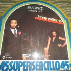 Discos de vinilo: LENNY WILLIAMS - CHOOSING YOU MAXI 45 - ORIGINAL ESPAÑOL - ABC RECORDS 1978 - MUY NUEVO (5).. Lote 104856843