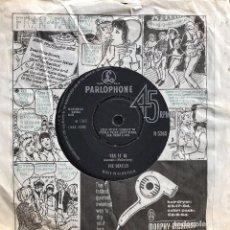 Discos de vinilo: BEATLES - TICKET TO RIDE / YES IT IS - SINGLE PARLOPHONE UK 1965. Lote 104864987