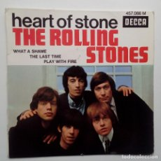 Discos de vinilo: THE ROLLING STONES: THE LAST TIME + HEART OF STONE + 2 - FRENCH EP 1969.. Lote 104865587