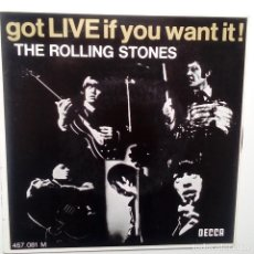 Discos de vinilo: THE ROLLING STONES- GOT LIVE IF YOU WANT IT! - FRENCH EP 1965- CASI NUEVO... Lote 104865775