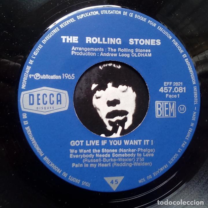 Discos de vinilo: THE ROLLING STONES- GOT LIVE IF YOU WANT IT! - FRENCH EP 1965- CASI NUEVO.. - Foto 3 - 104865775