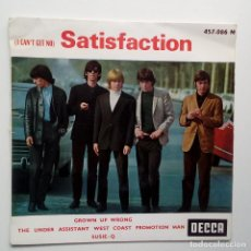 Discos de vinilo: THE ROLLING STONES- SATISFACTION - FRENCH EP 1965.. Lote 104866303