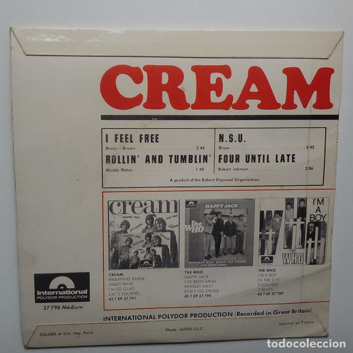 Discos de vinilo: CREAM I FEEL FREE- - FRENCH EP 1966 - ERIC CLAPTON. - Foto 2 - 104871515